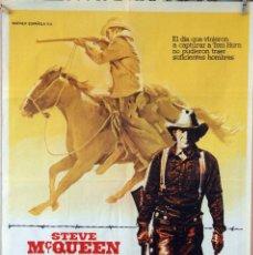 Cine: TOM HORN. STEVE MCQUEEN. CARTEL ORIGINAL 1980. 70X100. Lote 162446762