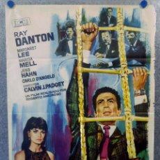 Cine: NUEVA YORK LLAMA A SUPERDRAGO. RAY DANTON, MARGARET LEE, MARISA MELL POSTER ORIGINAL. Lote 207578123