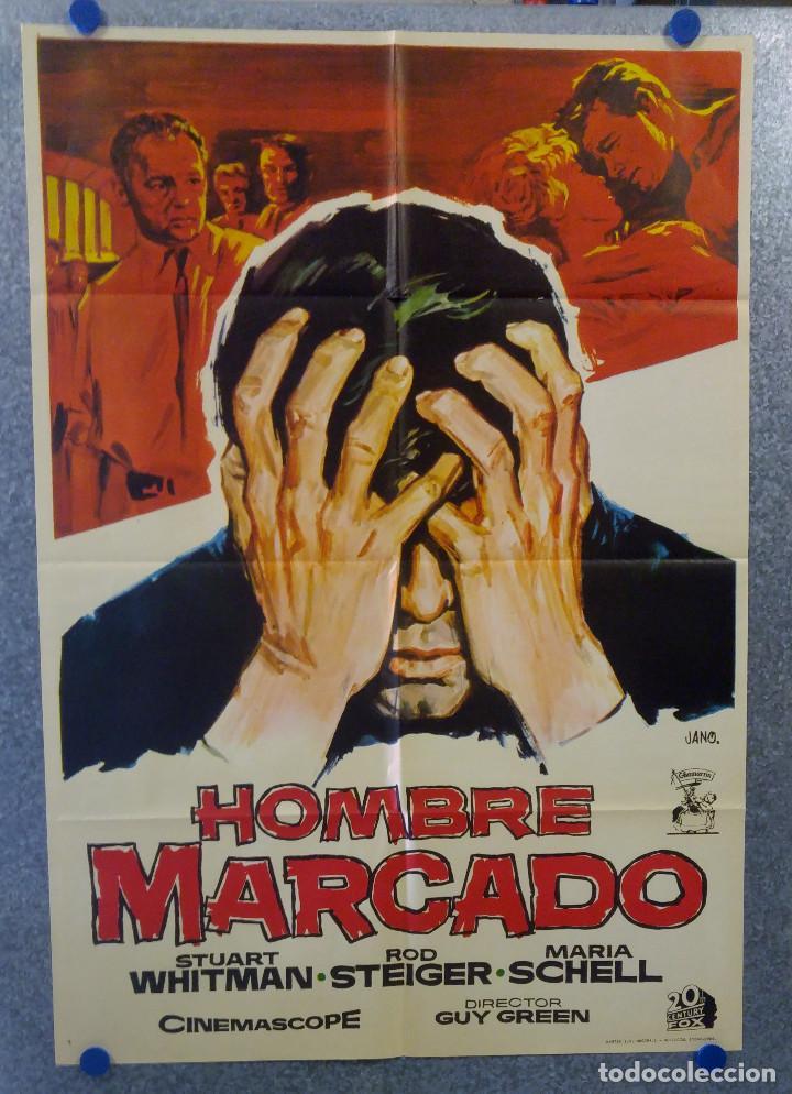HOMBRE MARCADO. STUART WHITMAN, MARIA SCHELL, ROD STEIGER. AÑO 1969. POSTER ORIGINAL (Cine- Posters y Carteles - Drama)