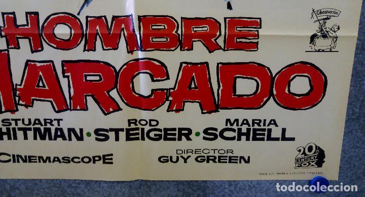 Cine: HOMBRE MARCADO. Stuart Whitman, Maria Schell, Rod Steiger. AÑO 1969. POSTER ORIGINAL - Foto 4 - 162618702