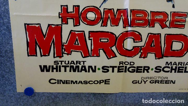 Cine: HOMBRE MARCADO. Stuart Whitman, Maria Schell, Rod Steiger. AÑO 1969. POSTER ORIGINAL - Foto 5 - 162618702