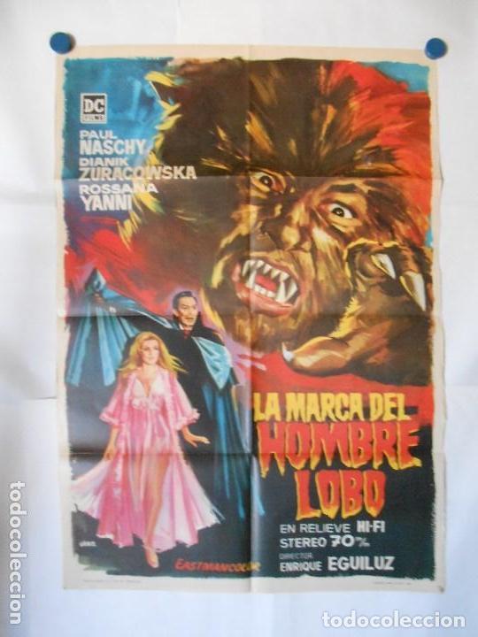 LA MARCA DEL HOMBRE LOBO PAUL NASCHY POSTER ORIGINAL 70X100 DEL ESTRENO (Cine - Posters y Carteles - Terror)