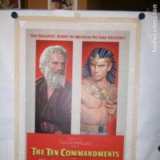 Cinema: THE TEN COMMANDMENTS (LOS DIEZ MANDAMIENTOS) - LITO - 105 X 70CM - USA - 1956 - ENTELADO. Lote 162831678