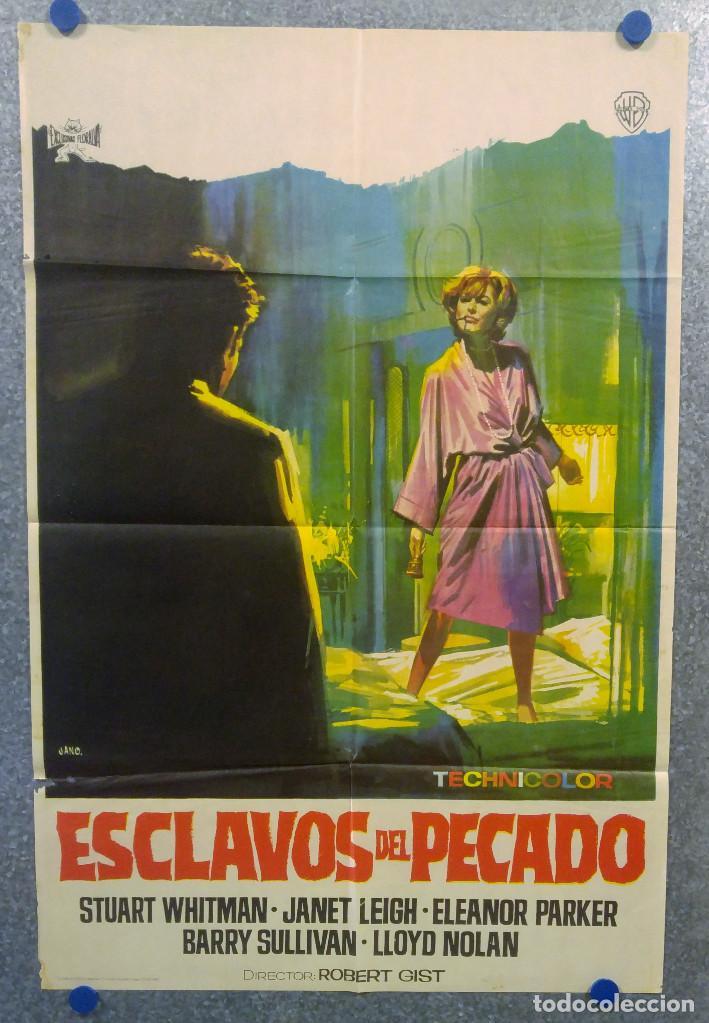 ESCLAVOS DEL PECADO. STUART WHITMAN, JANET LEIGH, ELEANOR PARKER. AÑO 1967 POSTER ORIGINAL (Cine- Posters y Carteles - Drama)
