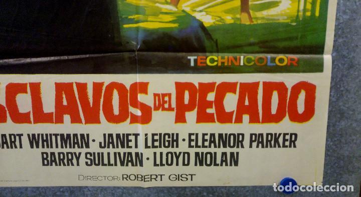 Cine: Esclavos del pecado. Stuart Whitman, Janet Leigh, Eleanor Parker. AÑO 1967 POSTER ORIGINAL - Foto 4 - 163089314
