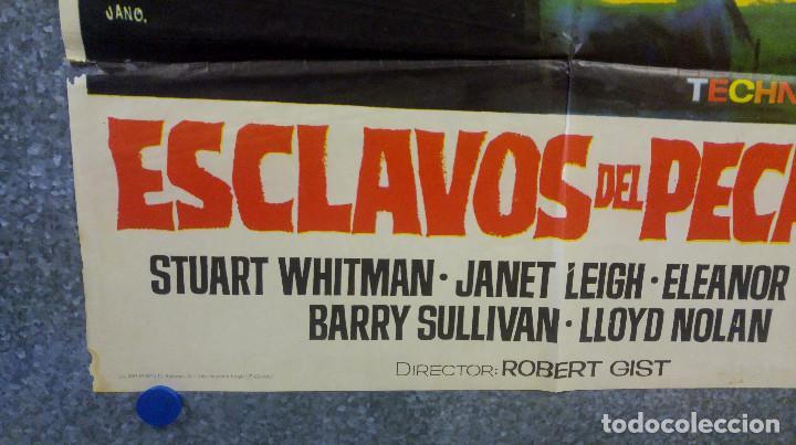 Cine: Esclavos del pecado. Stuart Whitman, Janet Leigh, Eleanor Parker. AÑO 1967 POSTER ORIGINAL - Foto 5 - 163089314
