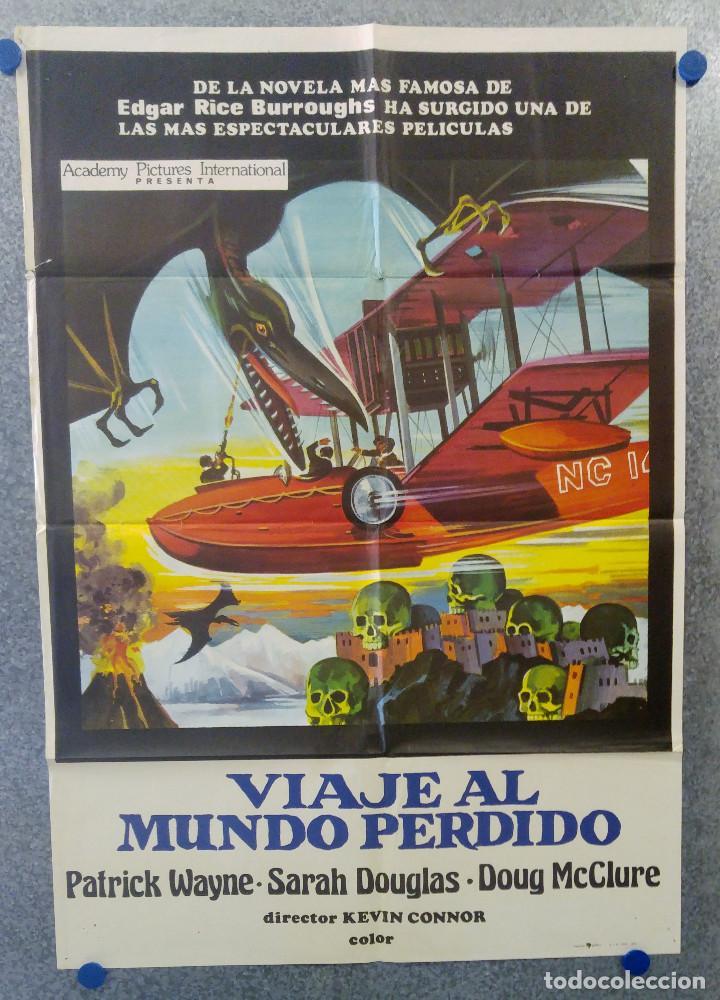 VIAJE AL MUNDO PERDIDO. PATRICK WAYNE, DOUG MCCLURE AÑO 1979. POSTER ORIGINAL (Cine - Posters y Carteles - Ciencia Ficción)