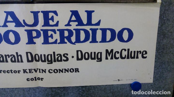 Cine: Viaje al mundo perdido. Patrick Wayne, Doug McClure AÑO 1979. POSTER ORIGINAL - Foto 4 - 163408234