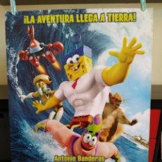 Cine: BOB ESPONJA CARTEL ORIGINAL DE CINE POSTER 70X100 -ENROLLADO. Lote 163580366