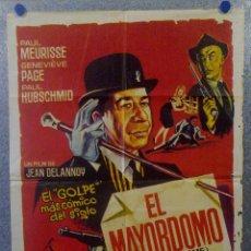 Cine: EL MAYORDOMO. PAUL MEURISSE, GENEVIÈVE PAGE, PAUL HBSCHMID. AÑO 1965 POSTER ORIGINAL. Lote 163599434