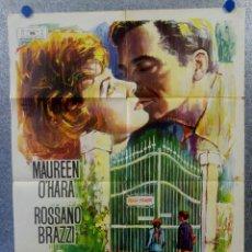 Cine: ESCÁNDALO EN VILLA FIORITA. MAUREEN O'HARA, ROSSANO BRAZZI, RICHARD TODD AÑO 1965 POSTER ORIGINAL. Lote 163600214