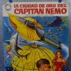 Cine: LA CIUDAD DE ORO DEL CAPITAN NEMO. ROBERT RYAN, CHUCK CONNORS, AÑO 1976 POSTER ORIGINAL. Lote 163601666
