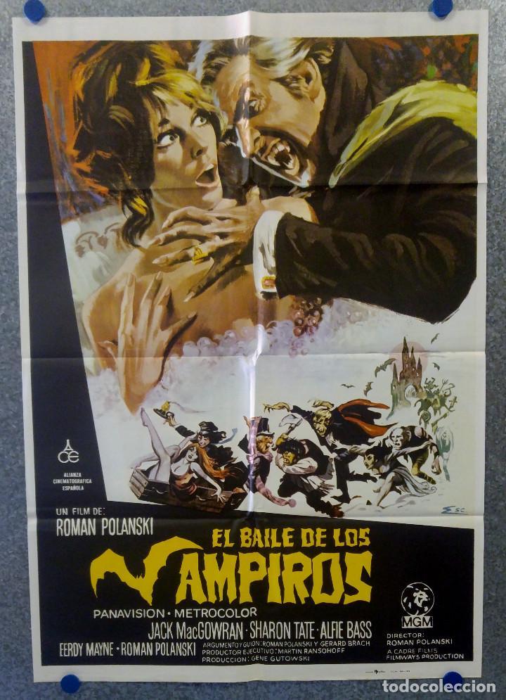 EL BAILE DE LOS VAMPIROS. JACK MACGOWRAN, ROMAN POLANSKI, SHARON TATE. AÑO 1979 POSTER ORIGINAL (Cine - Posters y Carteles - Terror)