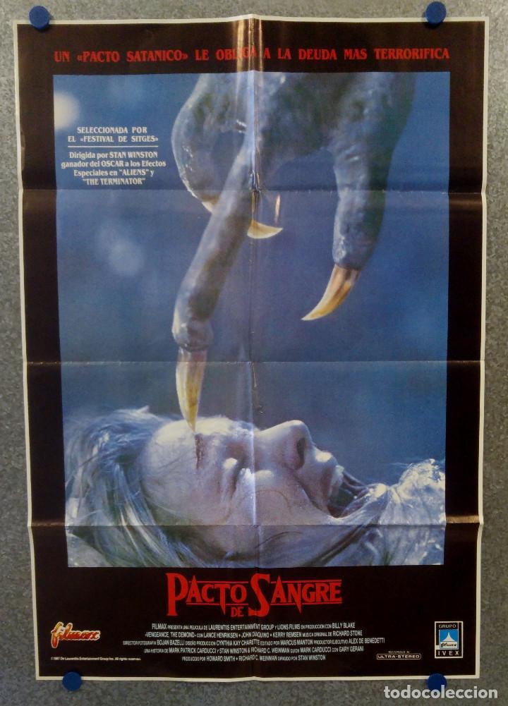 PACTO DE SANGRE. LANCE HENRIKSEN, JEFF EAST, JOHN D'AQUINO AÑO 1987. POSTER ORIGINAL (Cine - Posters y Carteles - Terror)