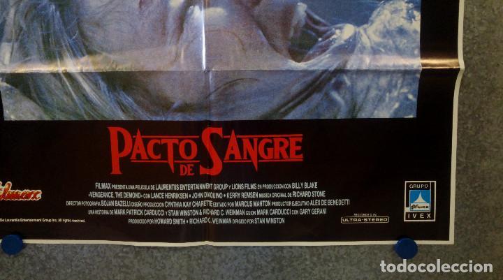 Cine: Pacto de sangre. Lance Henriksen, Jeff East, John DAquino AÑO 1987. POSTER ORIGINAL - Foto 4 - 163781746