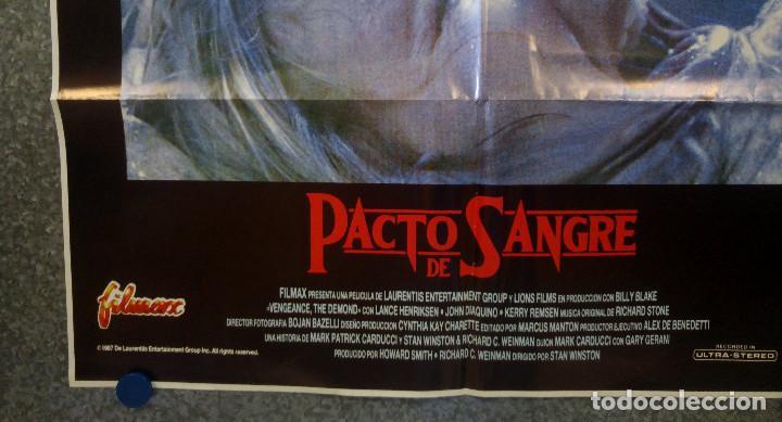 Cine: Pacto de sangre. Lance Henriksen, Jeff East, John DAquino AÑO 1987. POSTER ORIGINAL - Foto 5 - 163781746