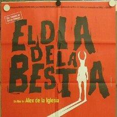 Cine: 2GO16D EL DIA DE LA BESTIA ALEX DE LA IGLESIA SANTIAGO SEGURA SATANIC POSTER ORIGINAL 70X100 ESTRENO. Lote 222508290