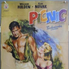 Cine: XO29D PICNIC KIM NOVAK WILLIAM HOLDEN RARO POSTER ORIGINAL 70X100 ESTRENO. Lote 163803326