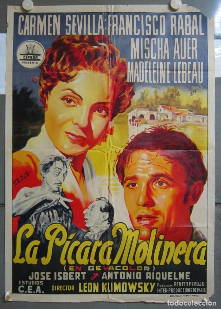 ZO37 LA PICARA MOLINERA CARMEN SEVILLA CIFESA POSTER ORIGINAL 70X100 ESTRENO LITOGRAFIA (Cine - Posters y Carteles - Clasico Español)