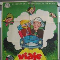 Cine: ZO36 VIAJE DE NOVIOS FERNANDO FERNAN GOMEZ ANALIA GADE POSTER ORIGINAL 70X100 ESTRENO LITOGRAFIA. Lote 163946630
