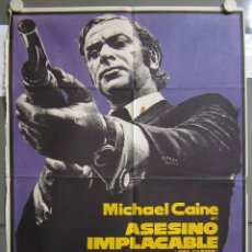 Cine: ZO31 ASESINO IMPLACABLE GET CARTER MICHAEL CAINE POSTER ORIGINAL 70X100 DEL ESTRENO. Lote 163948046