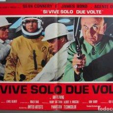 Cine: ZO60 SOLO SE VIVE DOS VECES JAMES BOND 007 SEAN CONNERY POSTER ORIGINAL ITALIANO 47X68. Lote 163954702