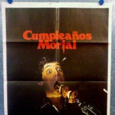 Cine: CUMPLEAÑOS MORTAL. MELISSA SUE ANDERSON, GLENN FORD, LAWRENCE DANE. AÑO 1981. POSTER ORIGINAL. Lote 164093450