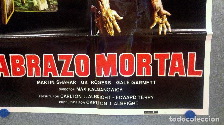 Cine: Abrazo mortal. Gale Garner, Gil Rogers, Martin Shakar AÑO 1981. POSTER ORIGINAL - Foto 4 - 164095422
