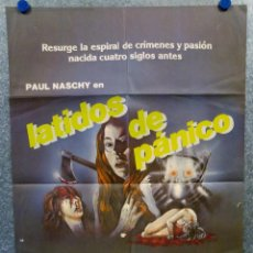 Cine: LATIDOS DE PÁNICO. PAUL NASCHY, FRANCES ONDIVIELA, JULIA SALY AÑO 1983. POSTER ORIGINAL. Lote 164096186