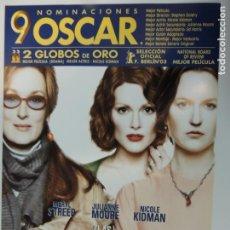 Cinéma: LAS HORAS - POSTER CARTEL ORIGINAL NICOLE KIDMAN MERYL STREEP JULIANNE MOORE VIRGINIA WOOLF . Lote 164170306
