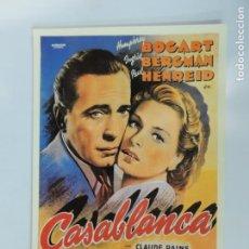 Cinema: CASABLANCA - POSTER CARTEL ORIGINAL HUMPHREY BOGART INGRID BERGMAN LAUREN FILMS SIN DOBLAR. Lote 245636860