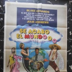 Cine: SE ACABO EL MUNDOOO JULIE ANDREWS,WILLIAM HOLDEN - BLAKE EDWARDS - CARTEL ORIGINAL ARGENTINO. Lote 164512858
