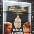 Cine: TODO ES CUESTION DE AMOR ANNIE GIRARDOT Y BIBI ANDERSON - CARTEL ORIGINAL ARGENTINO. Lote 164514202