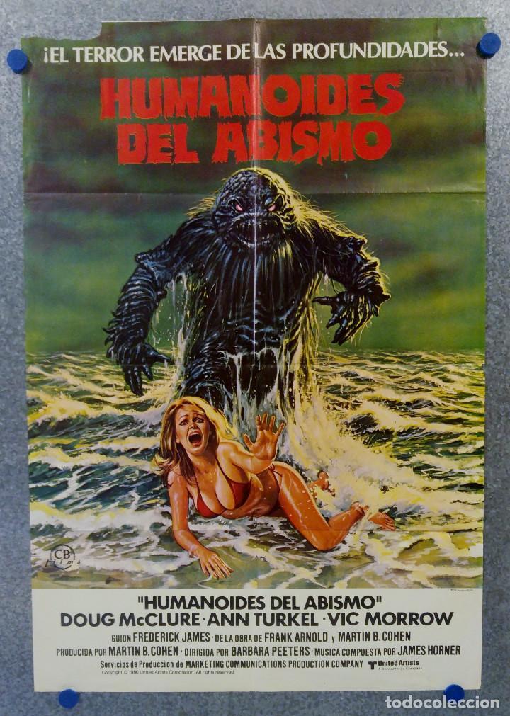 HUMANOIDES DEL ABISMO. DOUG MCCLURE, ANN TURKEL, VIC MORROW. AÑO 1980 POSTER ORIGINAL (Cine - Posters y Carteles - Terror)