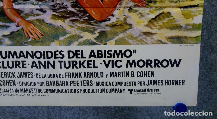 Cine: HUMANOIDES DEL ABISMO. DOUG McCLURE, ANN TURKEL, VIC MORROW. AÑO 1980 POSTER ORIGINAL - Foto 5 - 164725838