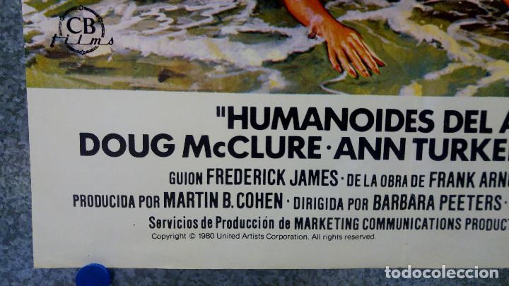 Cine: HUMANOIDES DEL ABISMO. DOUG McCLURE, ANN TURKEL, VIC MORROW. AÑO 1980 POSTER ORIGINAL - Foto 6 - 164725838
