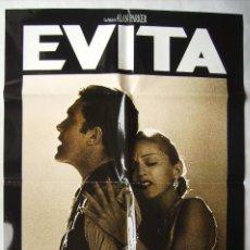 Cine: EVITA, CON MADONNA. POSTER 69 X 99 CMS. PAPEL CON BRILLO.. Lote 206549740