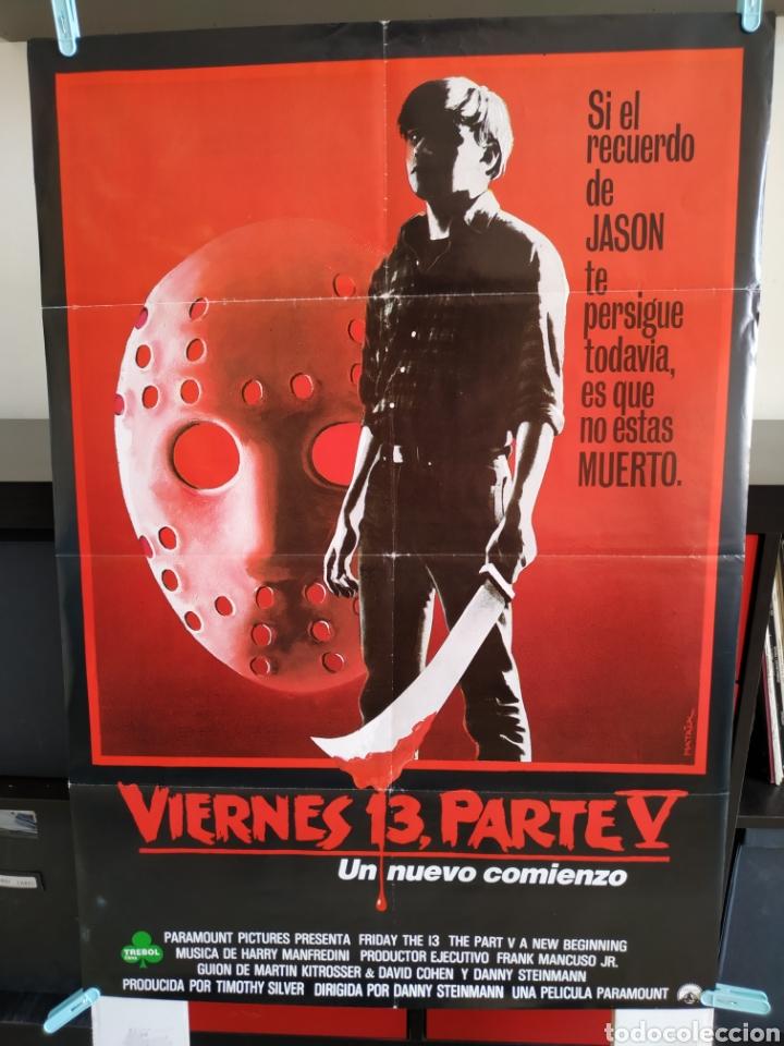 VIERNES 13 PARTE V - DOBLADO - 70X100 JASON VOORHEES (Cine - Posters y Carteles - Terror)
