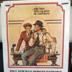Cine: EL GOLPE -DOBLADO- ROBERT REDFORD - PAUL NEWMAN 70X100 CARTEL. Lote 164877794