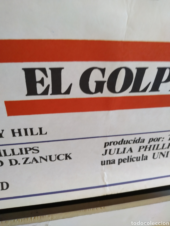 Cine: El Golpe -doblado- Robert Redford - Paul Newman 70x100 cartel - Foto 3 - 164877794