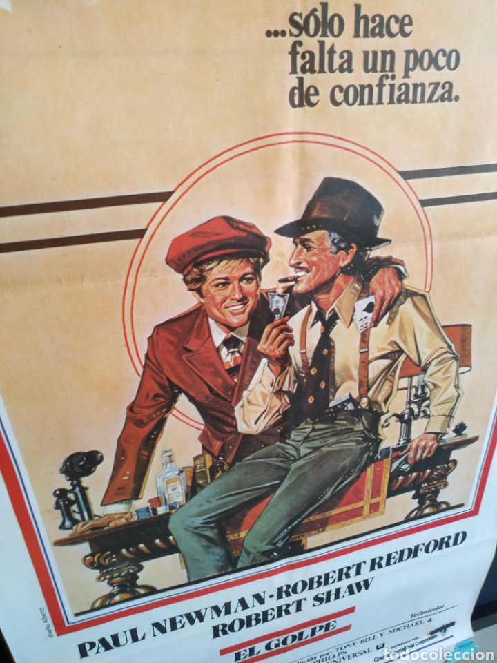 Cine: El Golpe -doblado- Robert Redford - Paul Newman 70x100 cartel - Foto 6 - 164877794