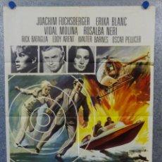 Cine: MISIÓN EN GINEBRA. JOACHIM FUCHSBERGER, ERIKA BLANC AÑO 1968. POSTER ORIGINAL. Lote 165053606