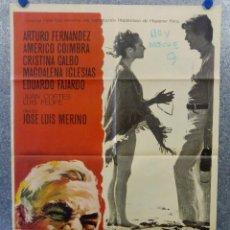 Cine: LAS CINCO ADVERTENCIAS DE SATANÁS. ARTURO FERNÁNDEZ, CRISTINA GALBÓ, AMÉRI AÑO 1969. POSTER ORIGINAL. Lote 165056178