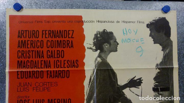 Cine: Las cinco advertencias de Satanás. Arturo Fernández, Cristina Galbó, Améri AÑO 1969. POSTER ORIGINAL - Foto 2 - 165056178