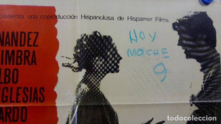 Cine: Las cinco advertencias de Satanás. Arturo Fernández, Cristina Galbó, Améri AÑO 1969. POSTER ORIGINAL - Foto 3 - 165056178