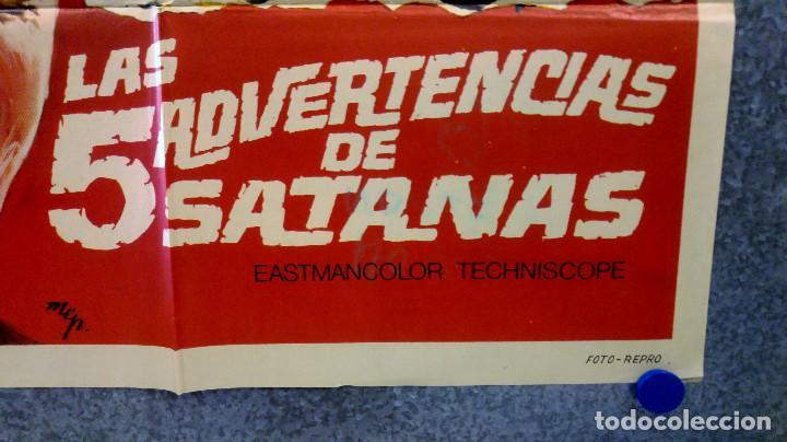 Cine: Las cinco advertencias de Satanás. Arturo Fernández, Cristina Galbó, Améri AÑO 1969. POSTER ORIGINAL - Foto 6 - 165056178