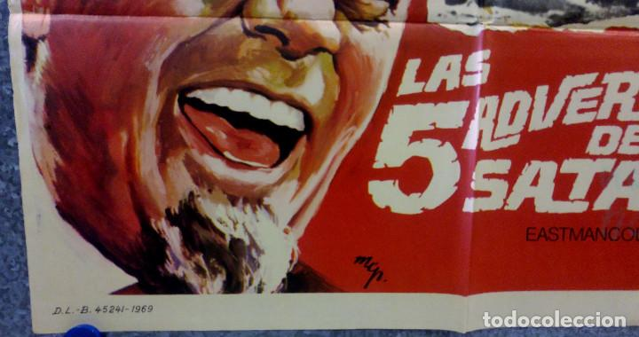 Cine: Las cinco advertencias de Satanás. Arturo Fernández, Cristina Galbó, Améri AÑO 1969. POSTER ORIGINAL - Foto 7 - 165056178