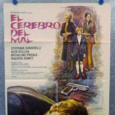 Cine: EL CEREBRO DEL MAL. STEFANIA SANDRELLI, KEIR DULLEA, MICHELINE PRESLE AÑO 1973 POSTER ORIGINAL. Lote 165057950