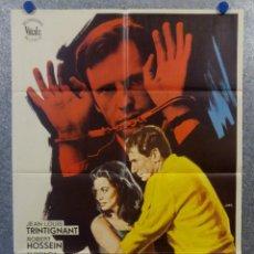 Cine: EL LADRÓN DE CRÍMENES. JEAN-LOUIS TRINTIGNANT, ROBERT HOSSEIN, GEORGIA MOL AÑO 1972 POSTER ORIGINAL. Lote 165059274