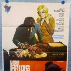 Cine: LOS FRÍOS SENDEROS DEL CRIMEN. DANIEL MARTÍN, ÁGATA LYS, FRANK BRAÑA AÑO 1973 POSTER ORIGINAL. Lote 165060050